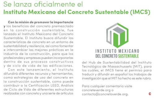 BOLETÍN NOTICIAS SEMANALES | Instituto Mexicano del Cemento y del Concreto A.C.