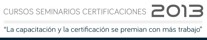 CALENDARIO CURSOS | SEMINARIOS | CERTIFICACIONES 2013 - Instituto Mexicano del Cemento y del Concreto A.C.