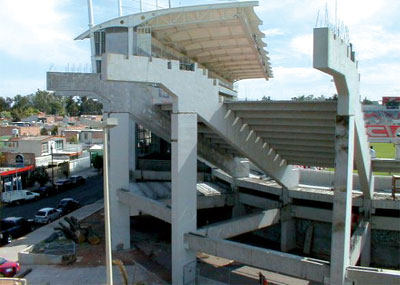 Sector cementero for Construccion de gradas de concreto